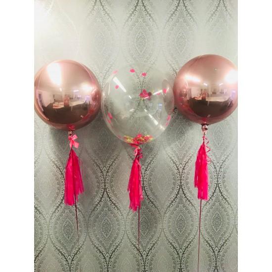 Custom Rose Gold Orb Balloon