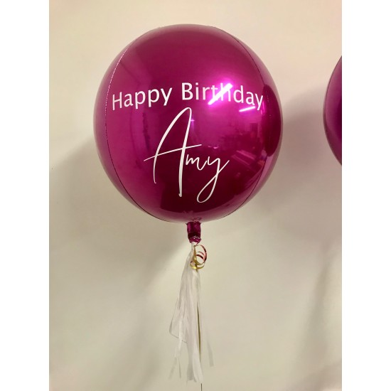 Custom Pink Orbz Balloon