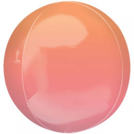 Custom Red & Orange Ombré Orbz Balloon