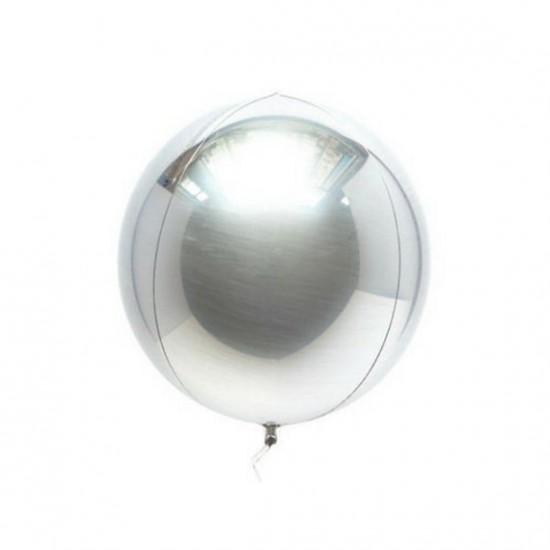 Custom Silver Orbz Balloon