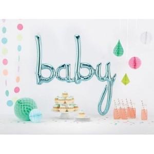 Script 'Baby' Blue Balloon