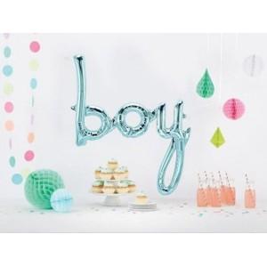 Script 'Boy' Blue Balloon