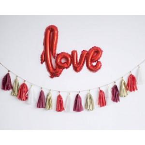 Script 'Love' Red Balloon