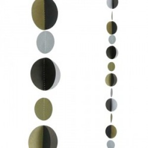 Balloon Tails - Black & Gold Circles
