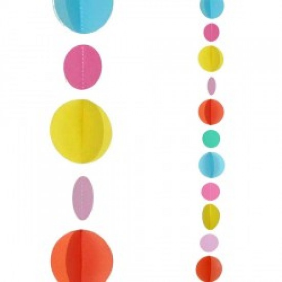 Balloon Tails - Multi Coloured Circles