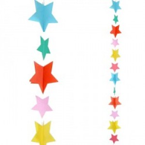 Balloon Tails - Multi Coloured Stars