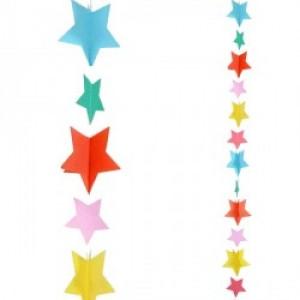 Balloon Tails - Multi Coloured Stars