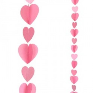 Balloon Tails - Pink Hearts