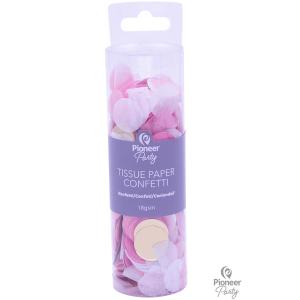 Confetti - Pink, White & Gold Tissue