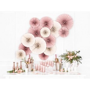 Trio Paper Fan - Dusty Pink