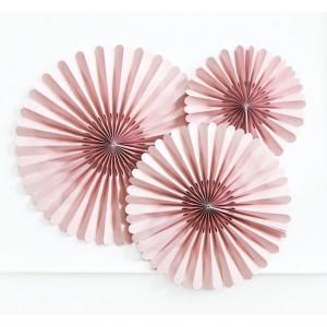 Trio Paper Fan - Dusty Pink