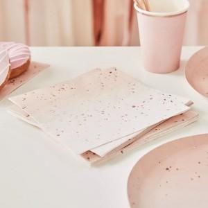 Pink Ombré & Rose Gold Napkins