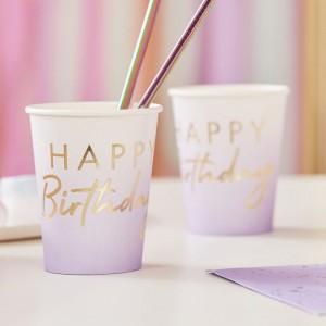 Purple & Gold Foil Paper Cups