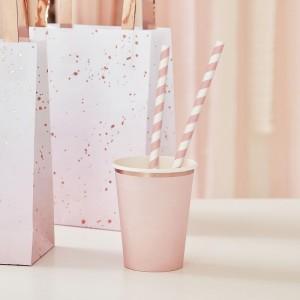 Pink Striped Straws