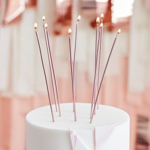 Birthday Candles Rose Gold Extra Long