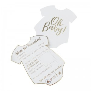 Baby Shower - 'Oh Baby' Advice Cards