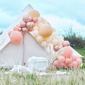 Luxe Peach, Nude & Rose Gold Balloon Arch Kit Large