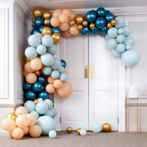 Luxe Teal & Chrome Gold Balloon Arch Kit Large