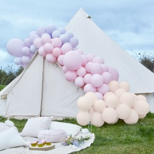 Luxe Pastel Pink And Purple Balloon Arch Kit Large