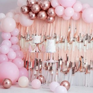 Luxe Pink & Rose Gold Balloon Arch Kit - Large