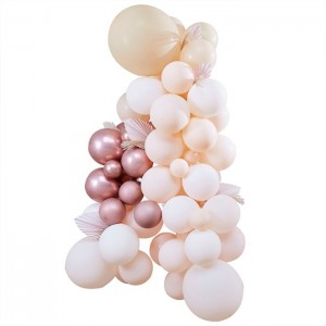 Pampas - White, Peach And Rose Gold Balloon Kit