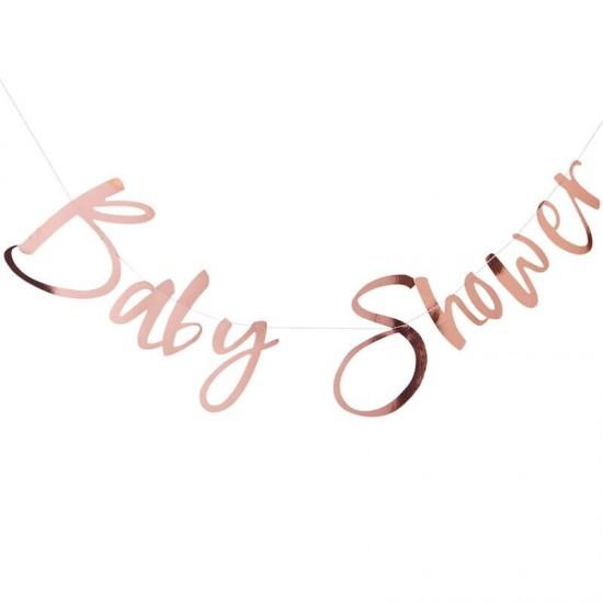 Baby Shower - Rose Gold Backdrop