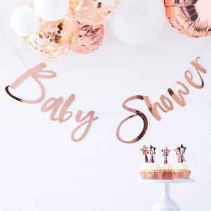 'Baby Shower'  Rose Gold Backdrop