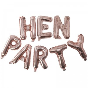 Hen Party Balloons Rose Gold 'Hen Party'