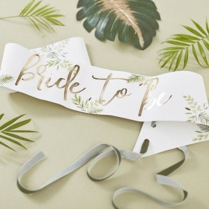 Bride To Be - Gold Foiled Sash
