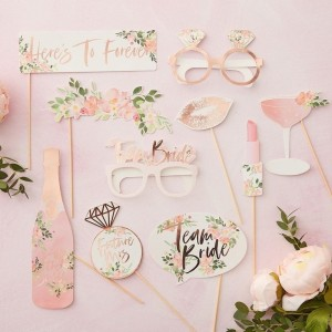 Hen Party - Floral Theme Photo Booth Props