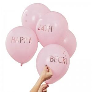 Personalised Balloon Kit - Pink & Rose Gold