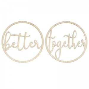 Better Together - Wooden Hoop Chair Signs