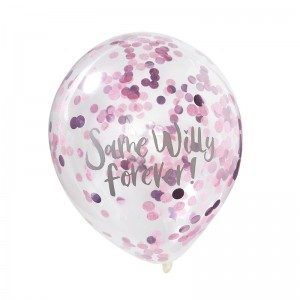 Same Willy Forever - Confetti Filled Balloons - 5pk