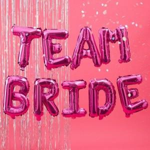 Hen Party Balloons Hot Pink 'Team Bride'