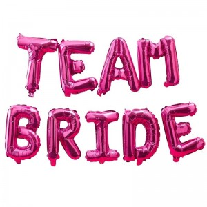 Hen Party Balloons Hot Pink 'Team Bride'