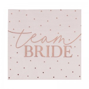 Pink & Rose Gold 'Team Bride' Foiled Napkins