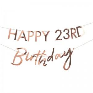 Customisable Milestone Birthday Banner