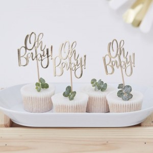 Baby Shower - Oh Baby Cupcake Toppers