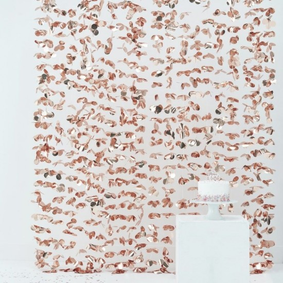 Flower Backdrop Curtain - Rose Gold