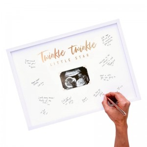 Baby Shower - Guest Book Frame 'Twinkle Twinkle'