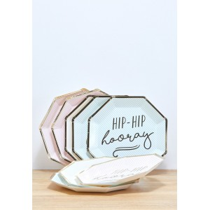 'Hip Hip Hooray' Paper Plates