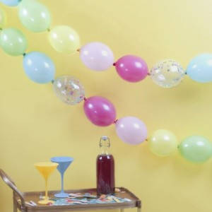 Balloon Link Garland - Multicolour & Tropical