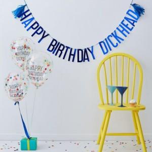 Party Kit - Happy Birthday Dickhead