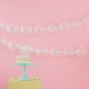 Balloon Link Garland - Confetti Filled