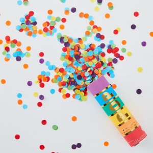 Confetti Cannon Rainbow Biodegradable