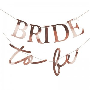 'Bride To Be' Rose Gold Hen Party Bunting