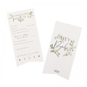 'Hey Baby' Baby Shower Advice For The Parents Cards