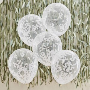 'Hey Baby' Baby Shower Confetti Balloons