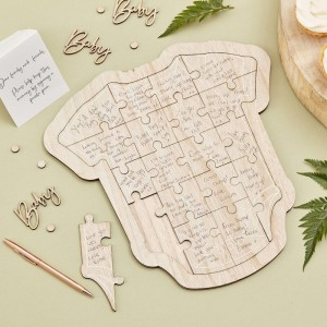 Wooden Baby Guestbook