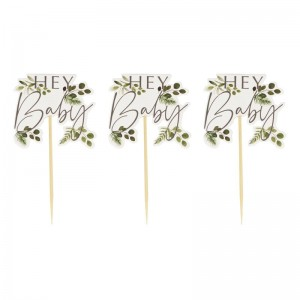'Hey Baby' Cup Cake Toppers 12pk